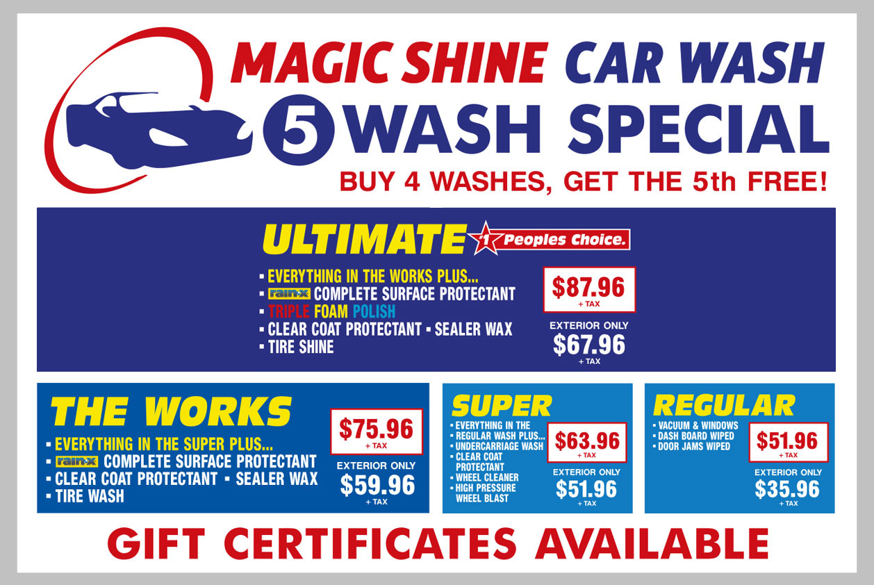 Magic Car Wash Prices
